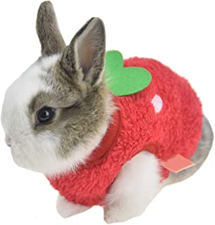 FLAdorepet Winter Warm Bunny Rabbit Clothes Small Animal Chinchilla Ferret Costume Outfits