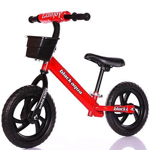 YHLZ Bicicleta de Equilibrio de los niños, la diversión de los niños/Balance de Bicicletas sin Pedal, Marco de Acero al Carbono, Asiento Ajustable, Rueda de Goma Inflable, Capacidad 50 kg Edad adecu