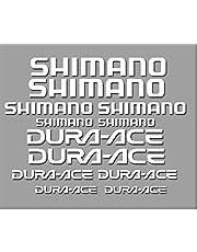 Ecoshirt, GU-MGC6-NJX4, stickers Shimano Dura-Ace R227, zelfklevend, wit