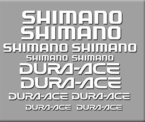 Ecoshirt GU-MGC6-NJX4 Aufkleber Shimano Dura-Ace R227 Stickers Aufkleber Decals Autocollants Adesivi, weiß