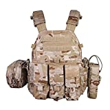 Emersongear LBT6094A Style PC,Airsoft Paintball Tactical Vest with Radio Pouch,Triple Mag Pouch and Dump Pouch