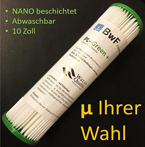 BWF ORIGINAL Neu! NANO (beschichtet) Filter Membran Sediment 0,22µm -besser Auswaschbar- auch für OSMOSE UMKEHROSMOSE WASSERFILTER ANLAGEN SEDIMENTFILTER Polypropylene NANO beschichtet! NEU! (20,00µ)