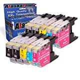 10x Reemplazo para Brother LC1220 LC1240 LC1280 cartuchos Compatible con Brother DCP-J525W DCP-J725DW MFC-J925DW MFC-J430W MFC-J5910DW MFC-J625DW MFC-J825DW MFC-J6910DW MFC-J6710DW MFC-J835DW MFC-J6510DW MFC-J280W MFC-J425W DCP-J725DW DCP-J925DW
