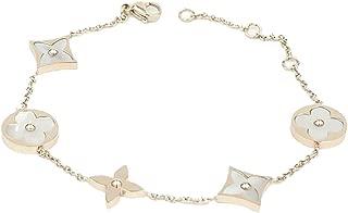 Rose Gold Titanium White Shell Clover Women's Chain Bracelet