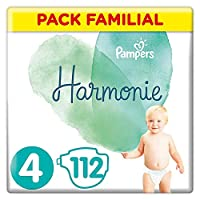 Les couches Pampers Harmonie sont testées dermatologiquement et sont hypoallergéniques Les couches sont conçues à base de coton de haute qualité, de fibres douces d'origine végétale, et d'autres composants soigneusement sélectionnés Conçues sans parf...