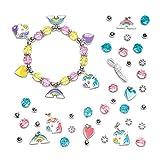 """Baker Ross Bettelarmband-Bastelsets """"Einhorn"""" (3 Stück) – für Kinder zum Basteln von Armbändern (Perlen, Anhänger und elastische Schnur enthalten)"""