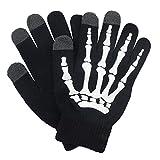 Glovion Skeleton Gloves Winter Gloves Touch Screen Gloves for Halloween Costume -White