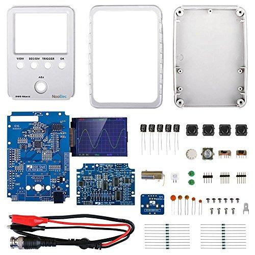 JYETech 'DSO Shell' Osciloscopio Kit de Bricolaje con Caja y Sonda de NooElec. Osciloscopio de Almacenamiento Digital de Bajo Costo con Pantalla 2.4' LCD TFT. DSO150, DSO 150,15001K