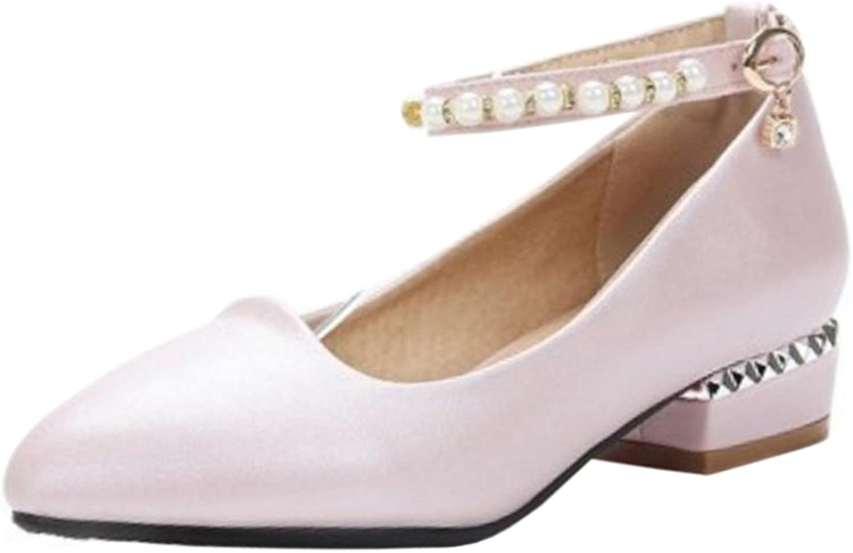 TAOFFEN Women's Party Low Heel Court shoes