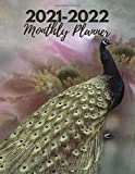 2021-2022 Monthly Planner: Peacock planner   2 Year Monthly Planner 2021-2022 Calendar Schedule Organizer  With Holidays best as a gift for ... year planner monthly pocket planner 2 year
