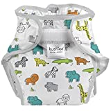 Kushies Baby Infant Waterproof Diaper Wrap, White Safari