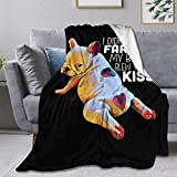 Ultra Soft Flannel Fleece Throw Blanket French Bulldog Funny Frenchie Puppy Dog All Season Warm and Cozy Quilt Blanket for Bed Sofa Couch 80
