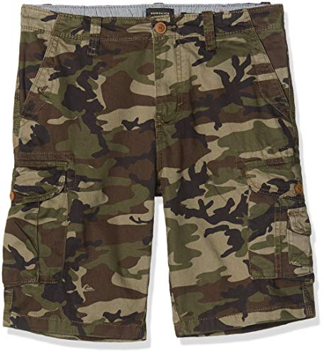 Quiksilver Herren Walk Shorts Crucial Battle - Cargoshorts Für Männer, Camo Print Crucial Battle, 34, EQYWS03456