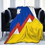 Manta de franela fascista para Chile mullida, cómoda, cálida, ligera, suave, para sofá, dormitorio, manta