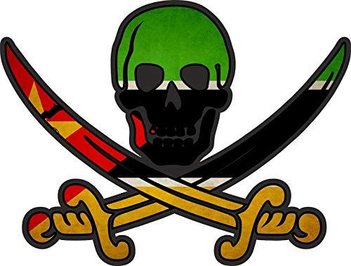 Akachafactory Sticker sticker vlag jack rackham piraat MOC mozambique