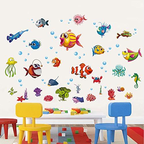 Cczxfcc DIY Onderwaterwereld kinderen muursticker voor kinderkamer badkamer glas tegels muursticker muurschildering lijm wooncultuur