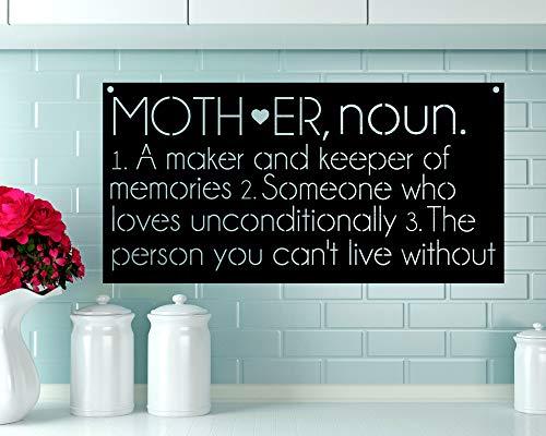 Mother Definition Metal Sign