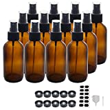 BPFY 12 Pack 4oz Amber Glass Spray Bottles 4oz Fine Mist Spray Bottle For Essential Oils, Perfumes, Alcohol, Watering Flowers, Cosmetic Spray Bottle, Refillable Liquid Containers