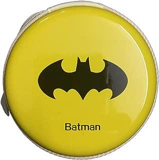 Rack Jack Round Storage Zipper Case Pouch Bag for Earphone/USB/Pendrive Carry Multipurpose Use - Batman - Yellow
