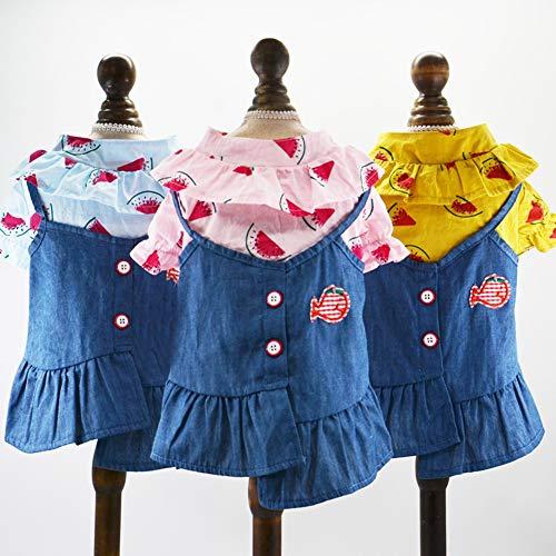 zNLIgHT Zomer Hond Kleding Asymmetrische Rok Swing Jurk Huisdier Prinses Kostuum Outfit - Blauw XS, XS, Blauw