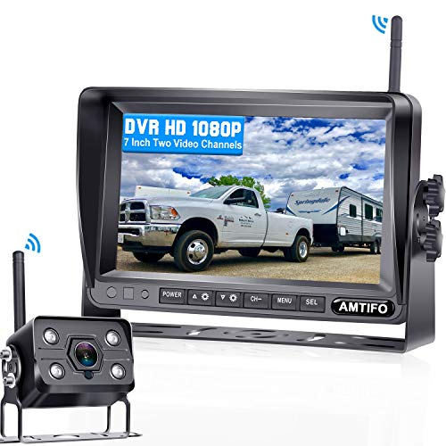 AMTIFO A7 HD 1080P Digital Wireless Backup Camera with 7 Inch DVR...