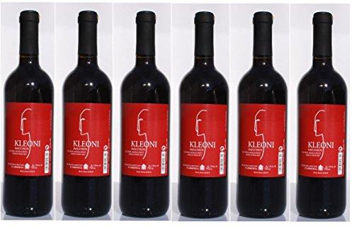 6x Kleoni Rotwein Imiglykos lieblich Lafkioti je 750ml + 2 Probier Sachets Olivenöl aus Kreta a 10 ml - griechischer roter Wein Rotwein Griechenland Wein Set