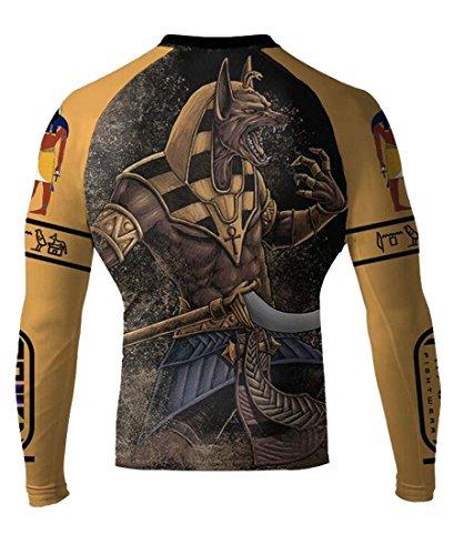 Raven Fightwear Men's Anubis MMA BJJ Long Sleeve Rash Guard 2X-Large Yellow