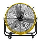 VENTISOL 24 Inch High Velocity Barrel Fan for Workshop Basement Greenhouse, All-Metal Construction 360° Tilting...