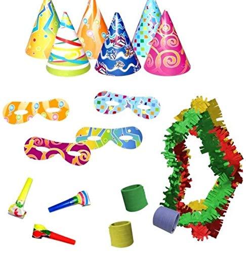 CAPRILO Lote de 15 Bolsas de Cotillones Decorativas Eco Fiesta. Cotillón para Fiestas y Eventos. Decoración Original para Bodas, Comuniones,Cumpleaños y Fin de Año(Nochevieja).