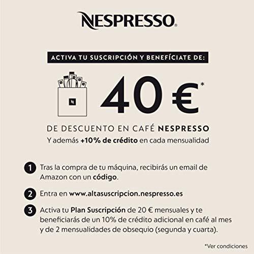 De'Longhi Nespresso Gran Lattissima EN650B - Cafetera Monodosis de Cápsulas (con Depósito de Leche Compacto, 9 Recetas, Apagado Automático) Color Negro, Incluye pack de bienvenida con 14 cápsulas