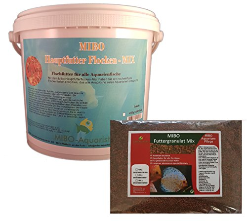 MIBO Futter Set Hauptfutter Flocke 5000ml+Granulat Mix 1000ml/500g Aquarium