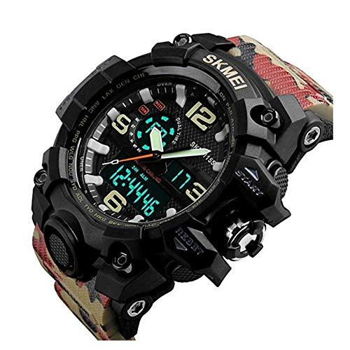 Reloj de Pulsera para Hombre, Reloj análogo Digital 50M Reloj Impermeable para...