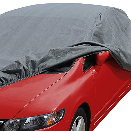 Motor Trend 4-Layer 4-Season Car Cover Waterproof All Weather for Heavy Duty Use for Sedan Coupes Up to 190'