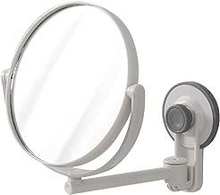 Flexible et r/églable /à 360/° Blanc avec Ventouse de Fixation Furein Cisne Miroir de Maquillage Rond avec lumi/ère LED grossissement 10 x