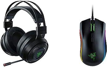 Razer Nari Ultimate Wireless 7.1 Surround Sound Gaming Headset - Black & Mamba Elite Wired Gaming Mouse: 16,000 DPI Optica...