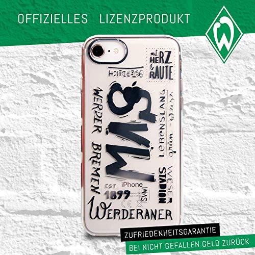 Werder Bremen Case - 10er - Schutzhülle passend für das Neue Apple iPhone SE und iPhone 8/7/6