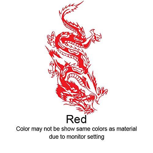 OTXA Wandaufkleber Aufkleber Vinyl Auto Fahrrad Laptop Stoßstange Chinesischer Drache Aufkleber Mythische Tier Wohnzimmer Schlafzimmer Wandbild Von Home & Garden Rot Medium