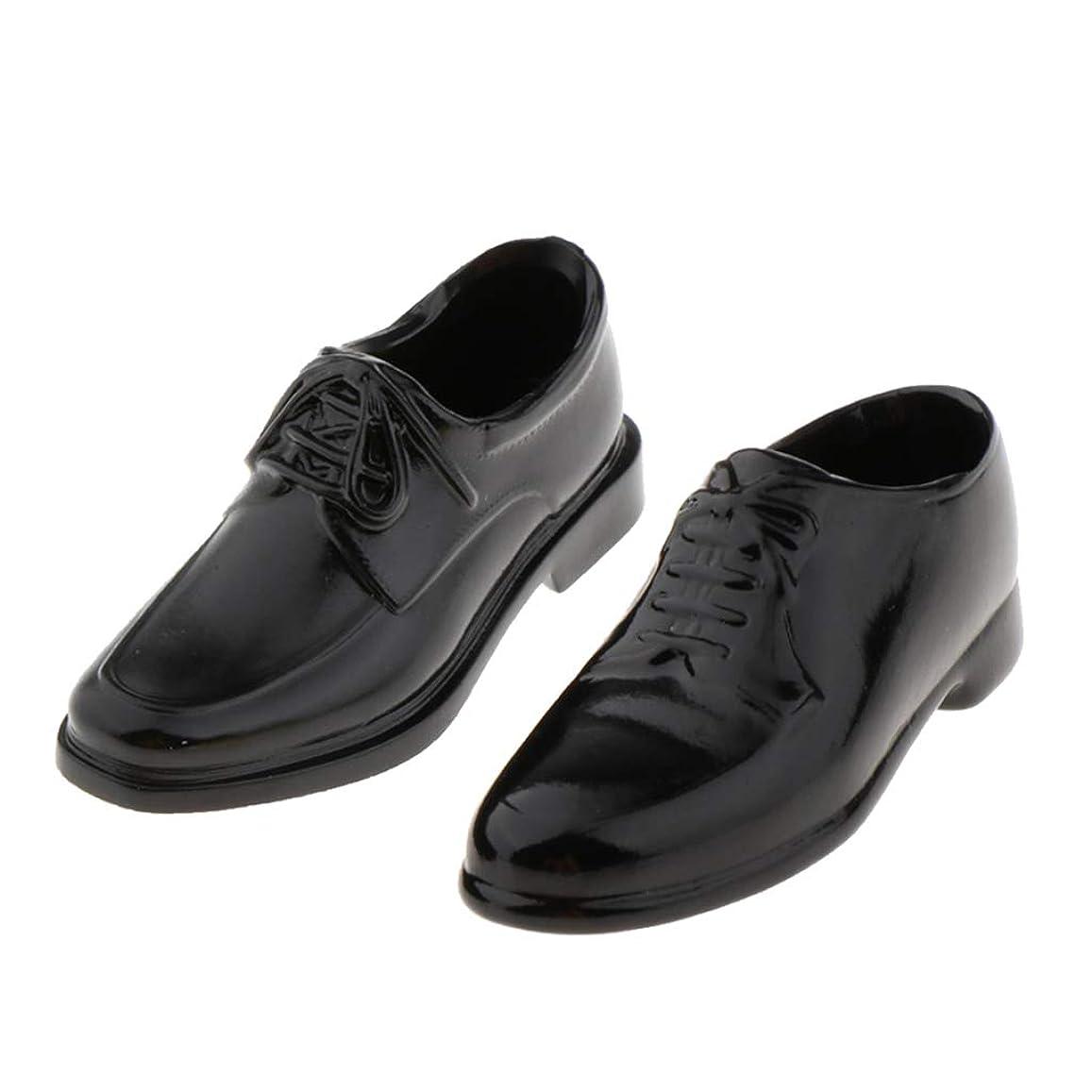 不利益類推#N/A 1/6 人形シューズ BJDシューズ マーティンシューズ レザーシューズ 男性靴 人形アクセサリー 2ペア