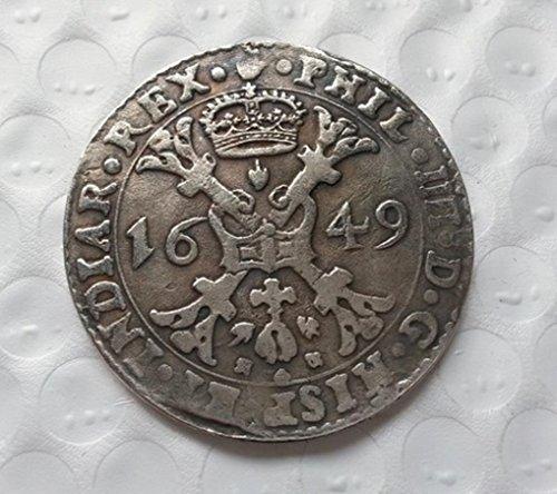 Bespok Souvenirs Rare Antiguo Antiguo Antiguo Imperio Romano Antiguo 1649 Color Plata Moneda Medalla Thaler
