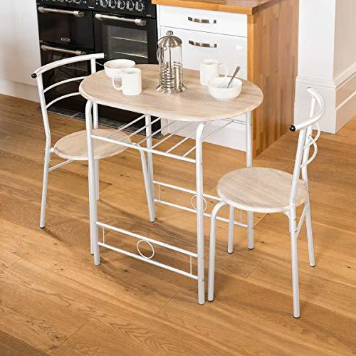 Christow 3-teilig Esszimmer-Set Frühstücksbar Küche Tischstühle Möbel