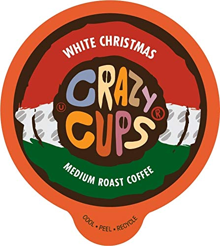 Crazy Cups Flavored Coffee for Keurig K-Cup Machines, White Christmas, Hot or Iced Drinks, 22 Single Serve, Recyclable Pods