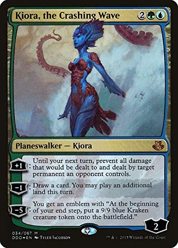 Kiora, The Crashing Wave Mythic Rare Foil Duel Decks: Elspeth vs. Kiora Planeswalker Magic: The Gathering Trading Card - Englisch - Cardicuno