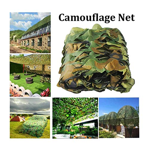 2 * 3M Sunshine Camo Netting, Jungle Landscapes Camouflage Net, Forest Camouflage Net For Sunshade Camping Military Hunting Shooting (Color : Green, Size : 2x4m/6x13ft)