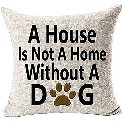 Ruthxiaoliang Hundeliebhaber Kissenbezug Baumwolle Leinen Startseite D & Eacute; COR, für Schlafsofa Auto Büro Lounge Geschenk