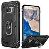 LUMARKE Galaxy S7 Case,(NOT for S7 Edge) Pass 16ft Drop Test Military Grade Heavy Duty Cover with Magnetic Car Mount Holder Kickstand,Protective Phone Case for Samsung Galaxy S7 Black