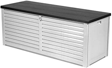 Gardeon Outdoor Storage Box Bench Seat Lockable Garden Deck Toy Tool Sheds 390L