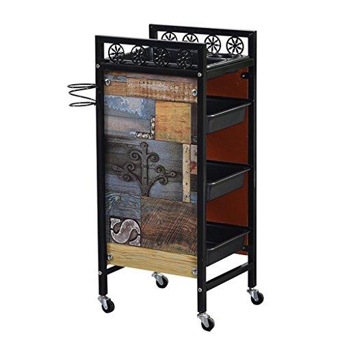 Jian E riemschijf keukentrolley trolley gereedschapswagen Barber Shop meerlaagse gereedschapswagen retro-wagen //