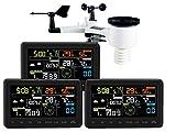 Estación meteorológica profesional Froggit wh3000 SE (2018) Triple (3 pantallas) -...