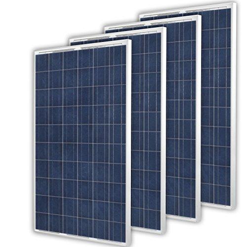 Solarpanel 4 x 270Watt Polykristallin Solarmodule 1080Watt Leistung Photovoltaikanlage