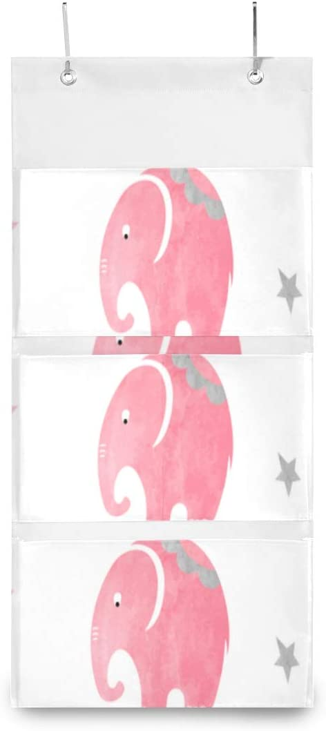 XDCGG Hanging Storage Bag Cute Pattern Org Max 57% OFF Room Elephants Simple All items free shipping